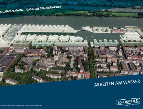 Vermarktungsbroschüre Zollhafen Mainz