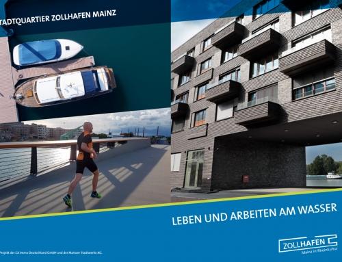 Broschüre Zollhafen Mainz auf der Expo Real 2018